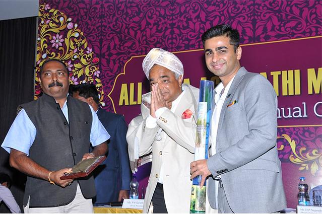 Felicitation of Mr.prakash agrawal, FOUNDER mdph GROUP by AIMA