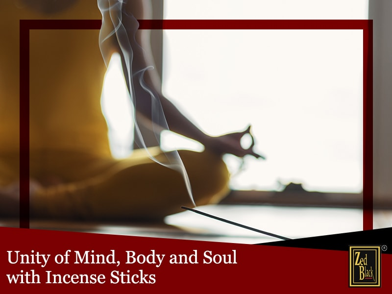 Unity of Mind, Body and Soul with Incense Sticks
